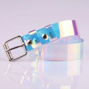 NWT Holographic trendy lightweight plastic belt OS